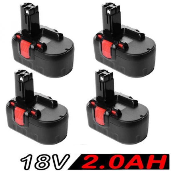 4x 18V 2.0AH Battery For Bosch BAT025 BAT160 2607335536 2607335278 PSR 18VE #1 image