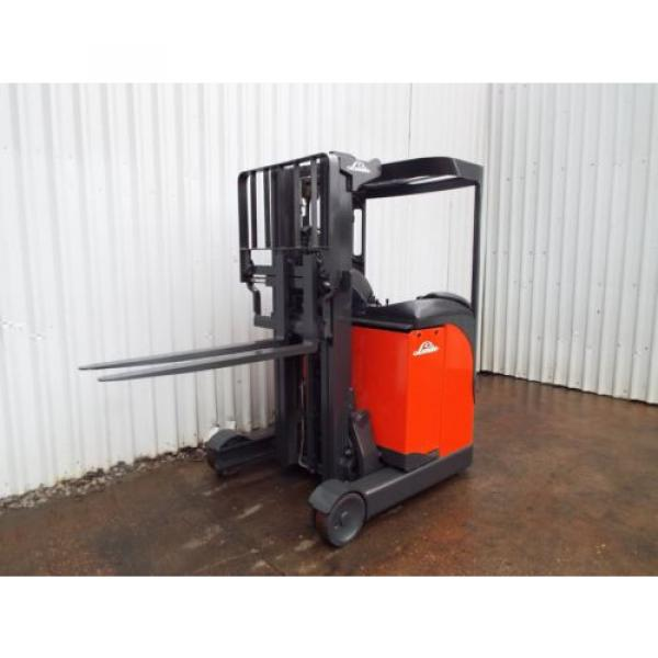 LINDE R10CS USED REACH FORKLIFT TRUCK. (A01738) PRICE REDUCED #2 image