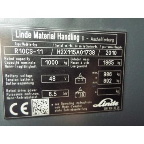LINDE R10CS USED REACH FORKLIFT TRUCK. (A01738) PRICE REDUCED #7 image