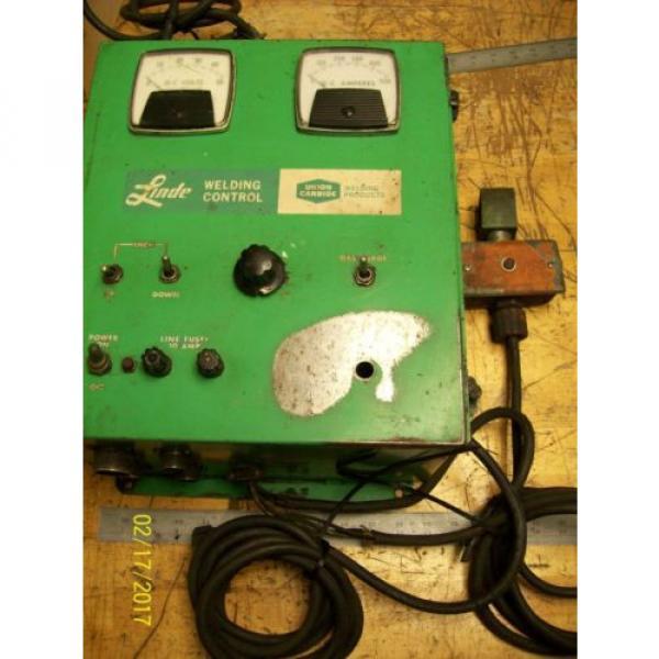 LINDE UNION CARBIDE SSC-17A CONTROL BOX 0-10 WELD CURRENT 10 AMP LINE FUSES #1 image