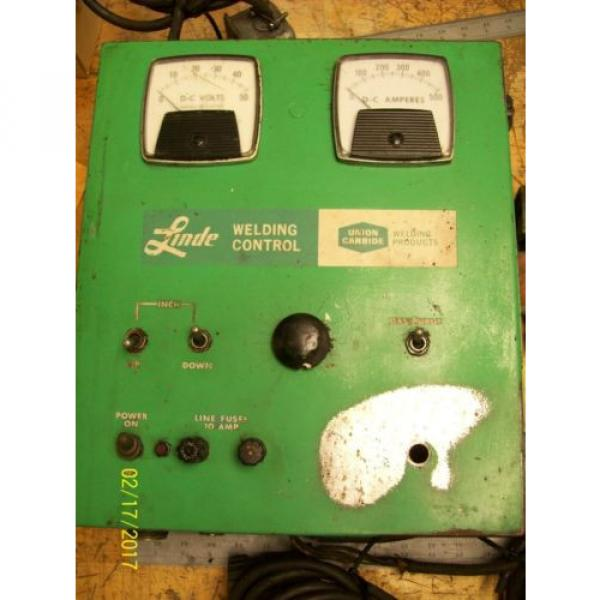 LINDE UNION CARBIDE SSC-17A CONTROL BOX 0-10 WELD CURRENT 10 AMP LINE FUSES #2 image