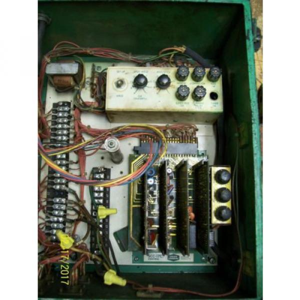 LINDE UNION CARBIDE SSC-17A CONTROL BOX 0-10 WELD CURRENT 10 AMP LINE FUSES #4 image