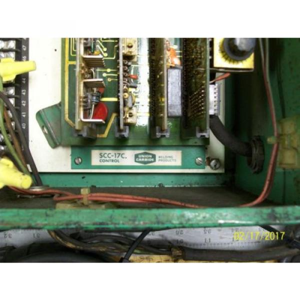 LINDE UNION CARBIDE SSC-17A CONTROL BOX 0-10 WELD CURRENT 10 AMP LINE FUSES #5 image