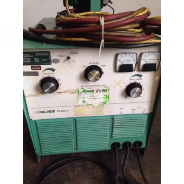 Linde VI-252 CV Welder Power Supply W/Linde Mig-35 Wire Feeder *Nice Setup* #7 image