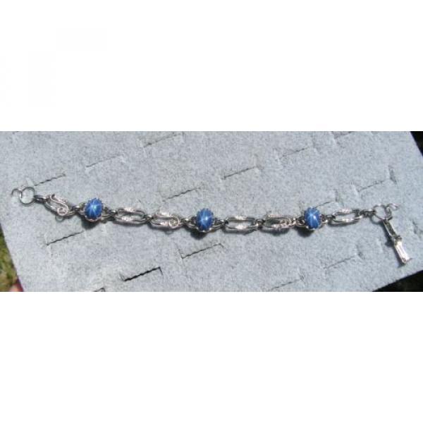 LINDE LINDY CORNFLOWER BLUE STAR SAPPHIRE CREATED BRACELET NPM SECOND QUALITY #1 image