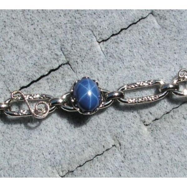 LINDE LINDY CORNFLOWER BLUE STAR SAPPHIRE CREATED BRACELET NPM SECOND QUALITY #2 image