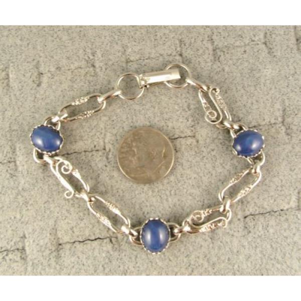 LINDE LINDY CORNFLOWER BLUE STAR SAPPHIRE CREATED BRACELET NPM SECOND QUALITY #3 image