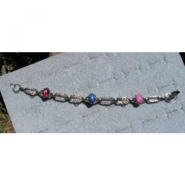 LINDE LINDY STAR SAPPHIRE CREATED RUBY STAR BRACELET NPM SECOND QUALITY DISCOUNT #1 image
