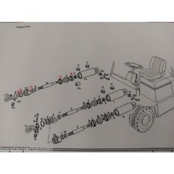 Set guarnizioni Cilindro di brandeggio Linde Stapler BR322/324 E12/15/16 no. #2 image