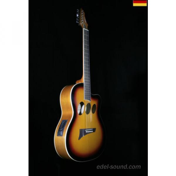 40` Westerngitarre Jane sunburst, breiter Hals, Decke Fichte Korp. Linde Cut EQ, #1 image