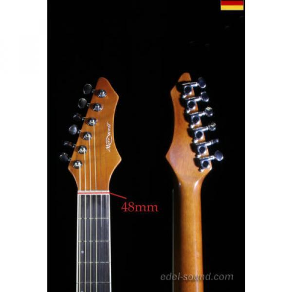 40` Westerngitarre Jane sunburst, breiter Hals, Decke Fichte Korp. Linde Cut EQ, #3 image