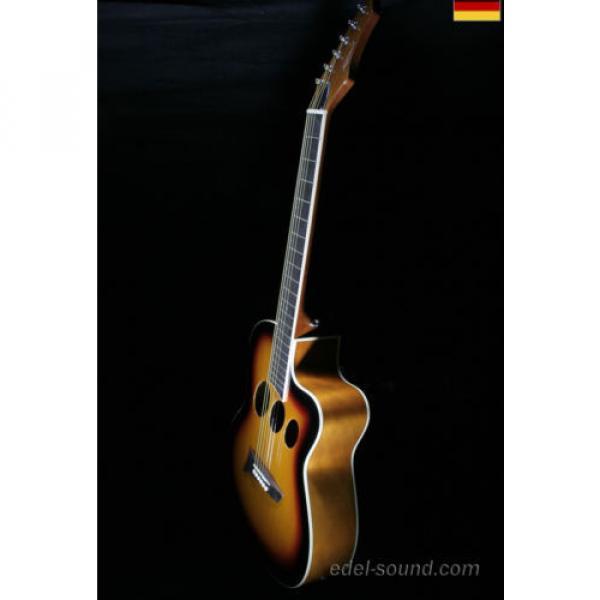 40` Westerngitarre Jane sunburst, breiter Hals, Decke Fichte Korp. Linde Cut EQ, #7 image