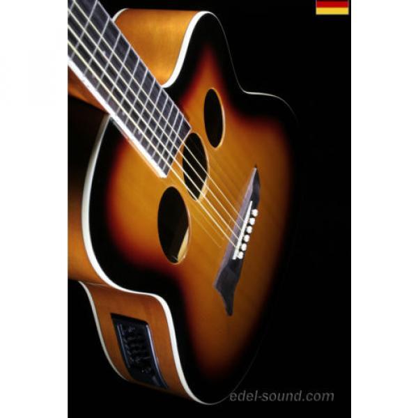 40` Westerngitarre Jane sunburst, breiter Hals, Decke Fichte Korp. Linde Cut EQ, #8 image