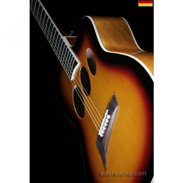40` Westerngitarre Jane sunburst, breiter Hals, Decke Fichte Korp. Linde Cut EQ, #10 image