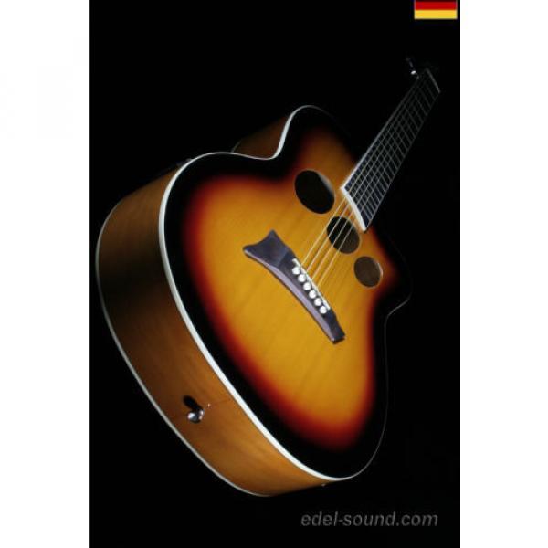 40` Westerngitarre Jane sunburst, breiter Hals, Decke Fichte Korp. Linde Cut EQ, #12 image