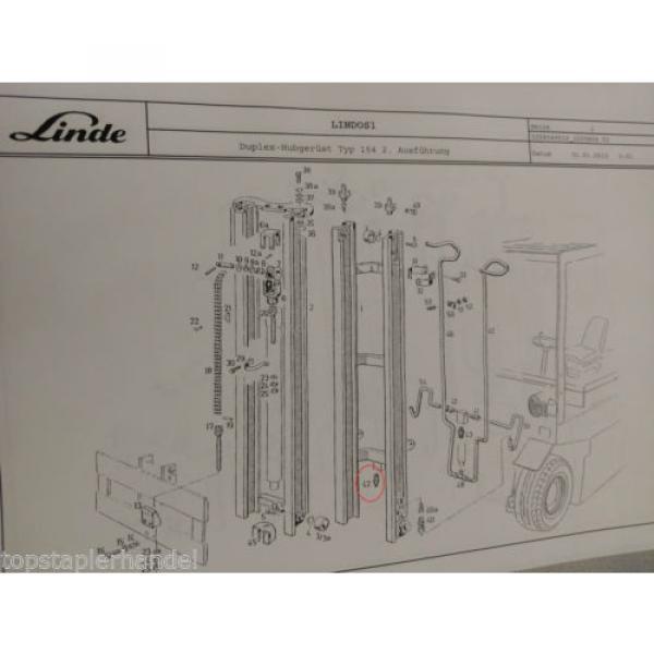 Ventil Überdruck Strömung Linde Nr. 0009442339 Typ E20/25/30 H20/25/30 uvm #3 image
