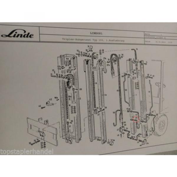 Ventil Überdruck Strömung Linde Nr. 0009442339 Typ E20/25/30 H20/25/30 uvm #4 image