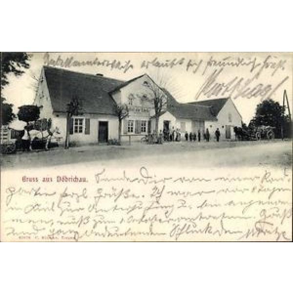 Ak Döbrichau Beilrode in Sachsen, Gasthof zur Linde, Anwohner,... - 1476748 #1 image