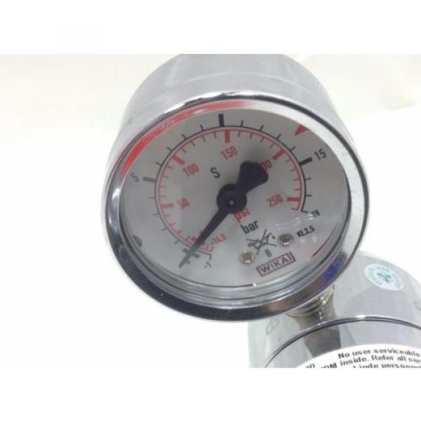 LINDE Gas regulator type RB 200/1 9D single stage 0-125 psi Oxygen compatable #2 #3 image