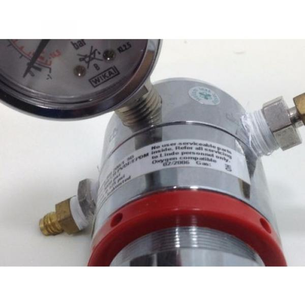 LINDE Gas regulator type RB 200/1 9D single stage 0-125 psi Oxygen compatable #2 #5 image