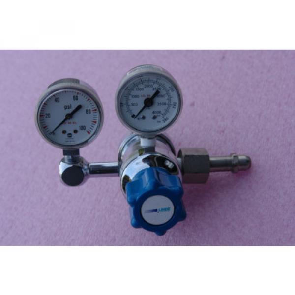 LINDE SG 36600 Gas regulator 4000 psi max, outlet gauge 100 psi #1 image