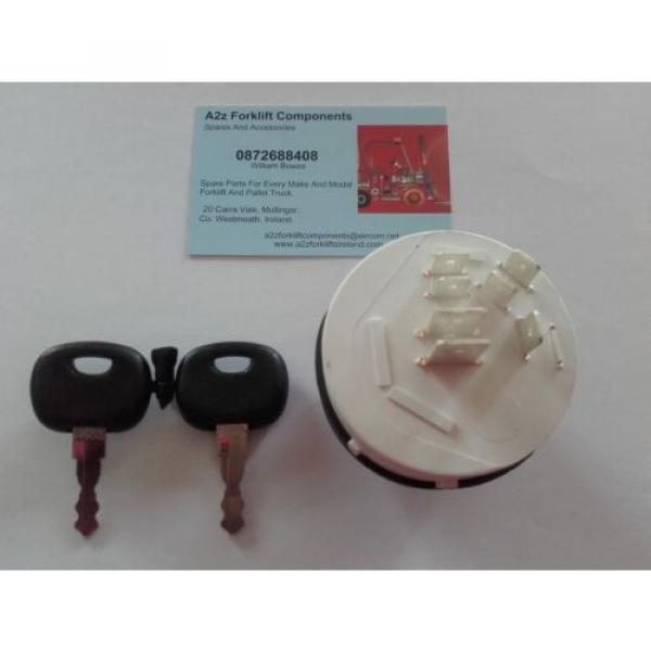 0009730212 Linde  forklift ignition switch + 2 x  16403  keys. Next Day Del UK #1 image