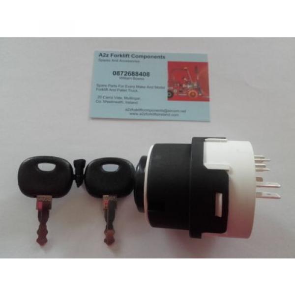 0009730212 Linde  forklift ignition switch + 2 x  16403  keys. Next Day Del UK #3 image