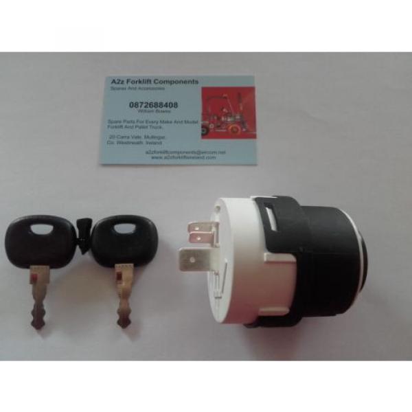 0009730212 Linde  forklift ignition switch + 2 x  16403  keys. Next Day Del UK #7 image