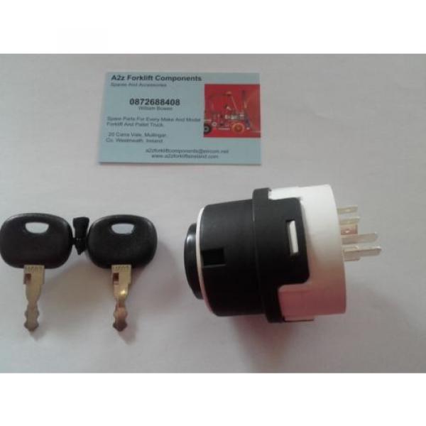 0009730212 Linde  forklift ignition switch + 2 x  16403  keys. Next Day Del UK #8 image