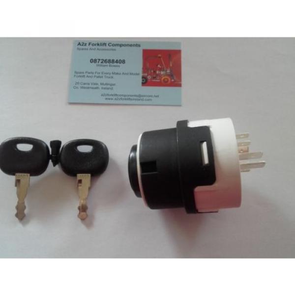 0009730212 Linde  forklift ignition switch + 2 x  16403  keys. Next Day Del UK #9 image