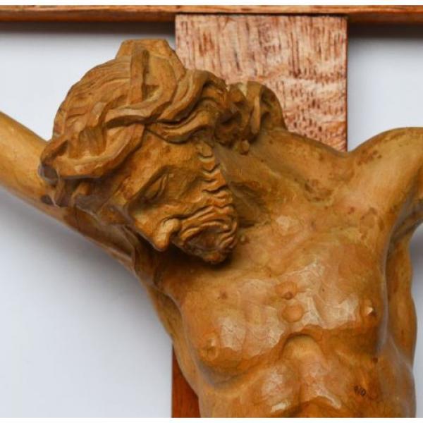 Großes Kruzifix Christuskreuz Holz Kreuz Eiche Korpus Linde geschnitzt 83 x 50cm #3 image