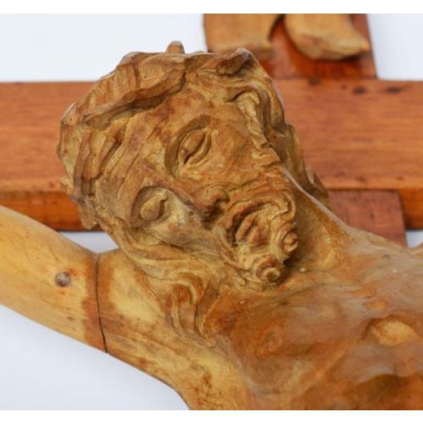 Großes Kruzifix Christuskreuz Holz Kreuz Eiche Korpus Linde geschnitzt 83 x 50cm #4 image