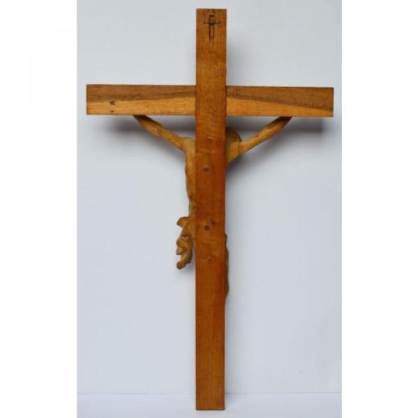 Großes Kruzifix Christuskreuz Holz Kreuz Eiche Korpus Linde geschnitzt 83 x 50cm #5 image