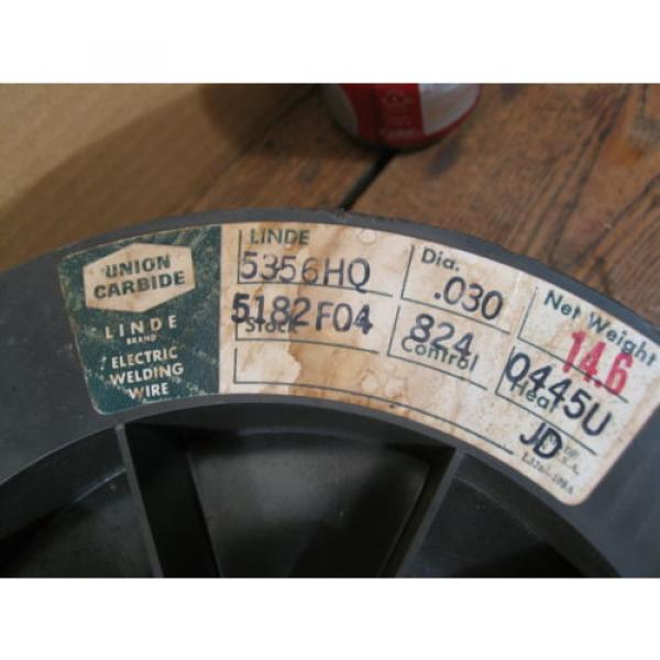 """14.6/lbs 5356HQ Aluminum Welding Wire 0.030"""" on a 12"""" Spool ( LINDE  ) #3 image"""