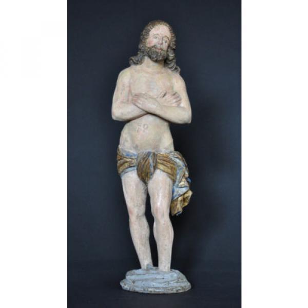 """""""Christus im Jordan stehend"""", ca. 1550-1600, Linde, alte Fassung, Sammlerstück #1 image"""