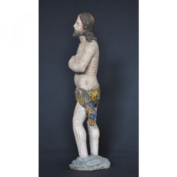 """""""Christus im Jordan stehend"""", ca. 1550-1600, Linde, alte Fassung, Sammlerstück #2 image"""