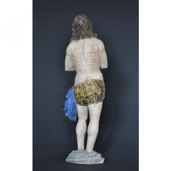 """""""Christus im Jordan stehend"""", ca. 1550-1600, Linde, alte Fassung, Sammlerstück #3 image"""