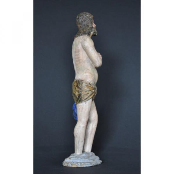 """""""Christus im Jordan stehend"""", ca. 1550-1600, Linde, alte Fassung, Sammlerstück #4 image"""