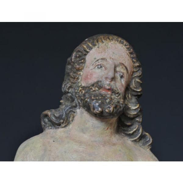 """""""Christus im Jordan stehend"""", ca. 1550-1600, Linde, alte Fassung, Sammlerstück #6 image"""