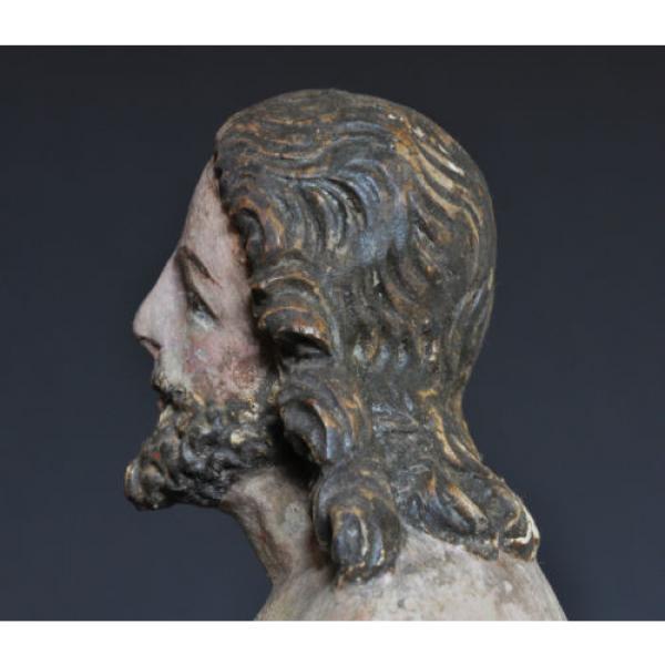 """""""Christus im Jordan stehend"""", ca. 1550-1600, Linde, alte Fassung, Sammlerstück #7 image"""