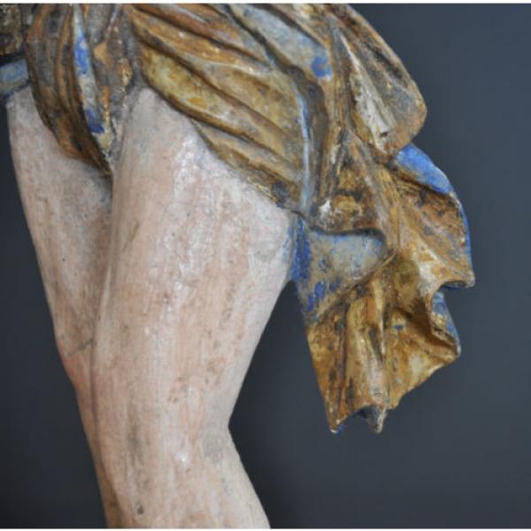 """""""Christus im Jordan stehend"""", ca. 1550-1600, Linde, alte Fassung, Sammlerstück #10 image"""