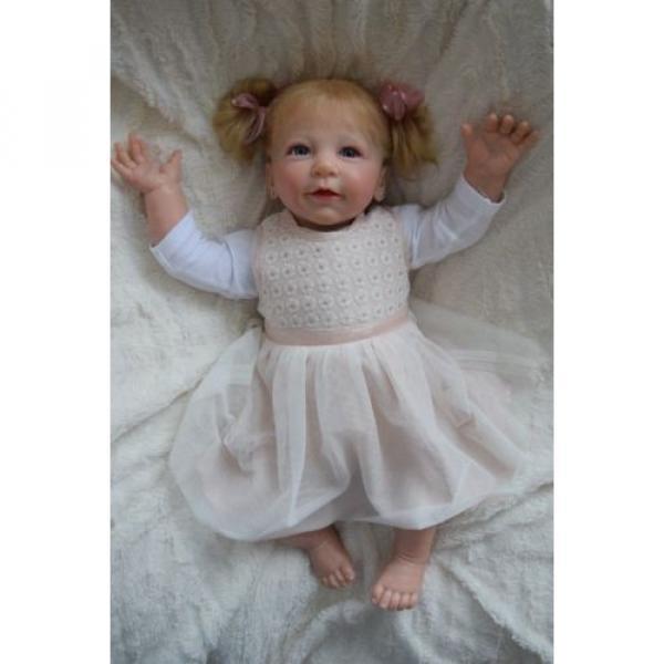 """Reborn baby girl doll Lisa by Linde Scherer 22"""" #1 image"""