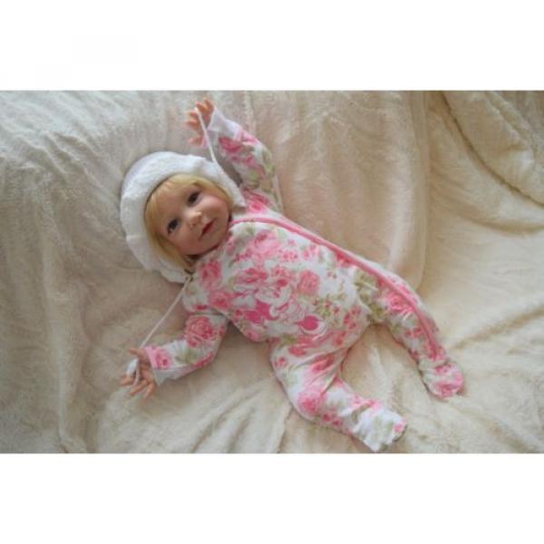 """Reborn baby girl doll Lisa by Linde Scherer 22"""" #2 image"""