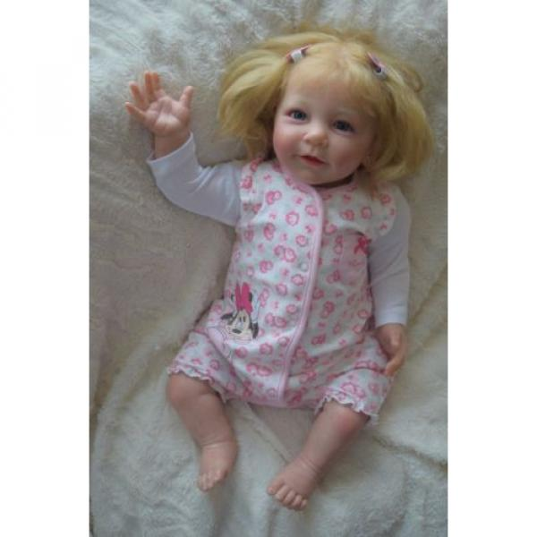 """Reborn baby girl doll Lisa by Linde Scherer 22"""" #3 image"""