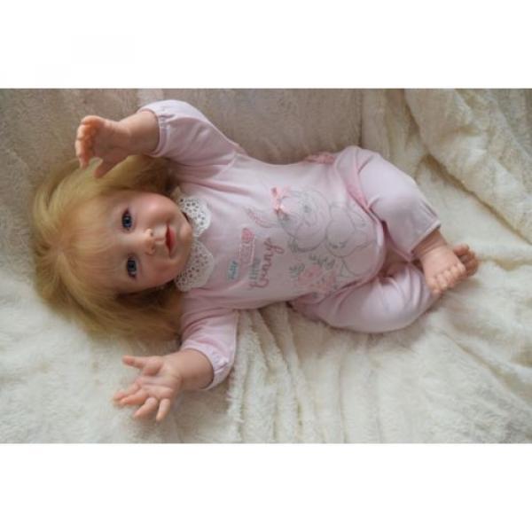 """Reborn baby girl doll Lisa by Linde Scherer 22"""" #7 image"""