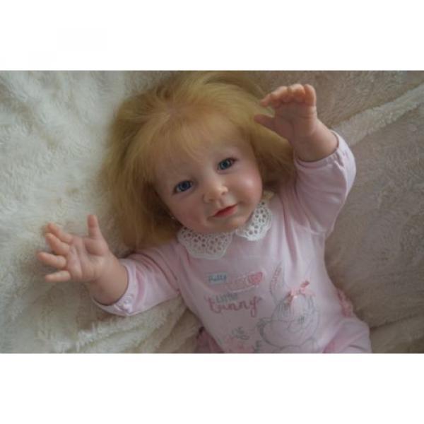 """Reborn baby girl doll Lisa by Linde Scherer 22"""" #8 image"""