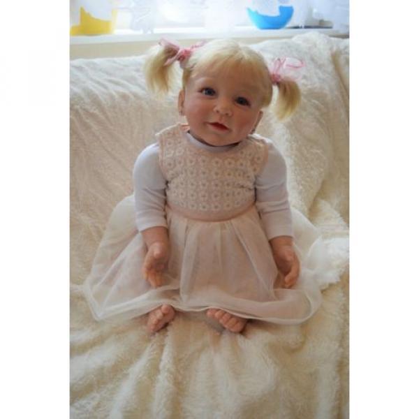 """Reborn baby girl doll Lisa by Linde Scherer 22"""" #9 image"""