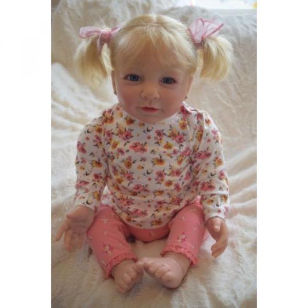 """Reborn baby girl doll Lisa by Linde Scherer 22"""" #10 image"""