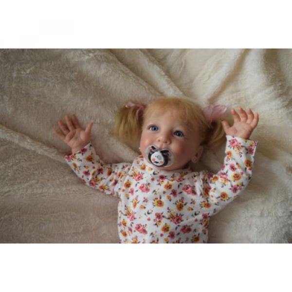 """Reborn baby girl doll Lisa by Linde Scherer 22"""" #11 image"""