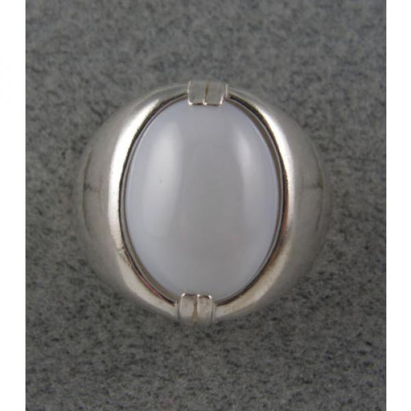 MENS 16X12mm 9+ CT LINDE LINDY WHITE STAR SAPPHIRE CREATED SECOND RING SS #4 image